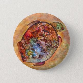 Badge Rond 5 Cm Tortue
