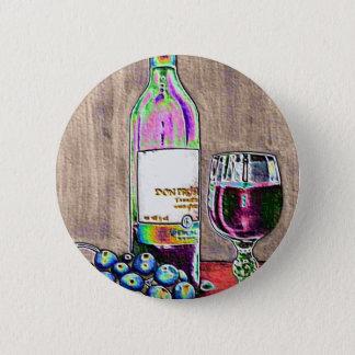 Badge Rond 5 Cm Toujours l'art moderne de la vie du vin et les