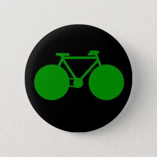 Badge Rond 5 Cm tour dessus. attitude verte de bicyclette