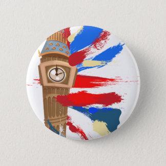 Badge Rond 5 Cm Tour d'horloge de Big Ben Westminster
