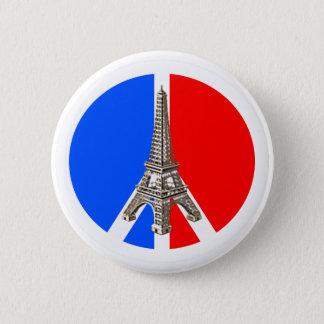 Badge Rond 5 Cm Tour Eiffel de paix de Solidarité