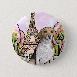 Badge Rond 5 Cm Tour Eiffel Paris de beagle