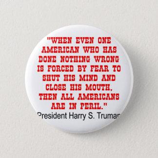 Badge Rond 5 Cm Tous les Américains sont dans le péril