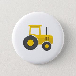 Badge Rond 5 Cm Tracteur jaune