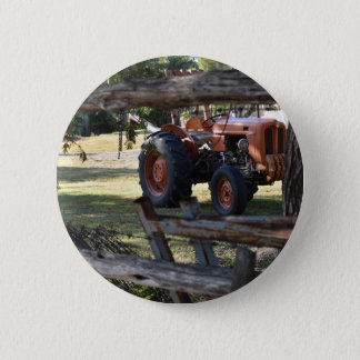 BADGE ROND 5 CM TRACTEUR QUEENSLAND RURAL AUSTRALIE DE FIAT