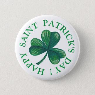 Badge Rond 5 Cm Trèfle du jour de Patrick de saint