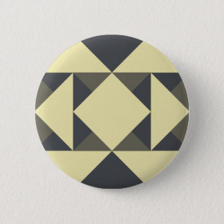 Badge Rond 5 Cm Triangles de noir et d'or