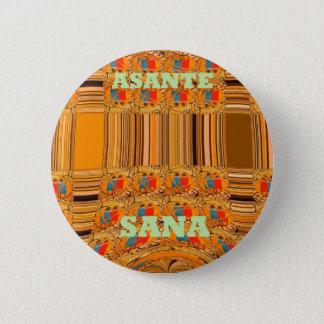 Badge Rond 5 Cm Tribus traditionnelles Hakuna Matata d'Asante Sana