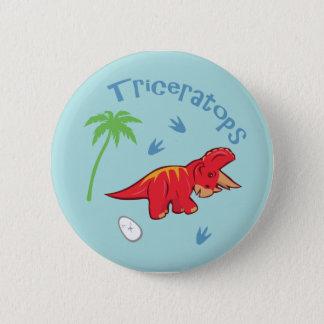Badge Rond 5 Cm Triceratops mignon