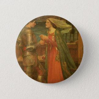 Badge Rond 5 Cm Tristan et Isolde par le château d'eau, beaux-arts