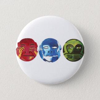 Badge Rond 5 Cm Trois singes