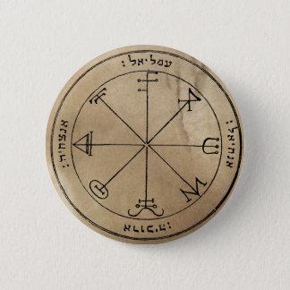 Badge Rond 5 Cm Troisième pentagramme de bouton de Saturn