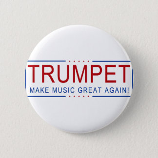 Badge Rond 5 Cm TROMPETTE - rendez la musique grande encore !