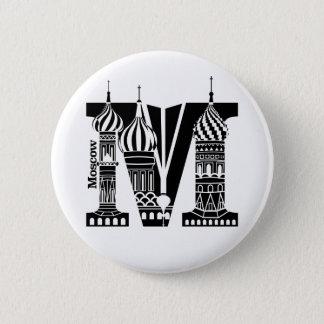Badge Rond 5 Cm Typographie M (Moscou : Bouton de la Russie)
