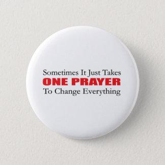 Badge Rond 5 Cm Un bouton de prière