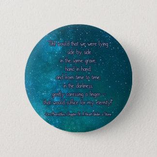 Badge Rond 5 Cm un coeur sous une pierre