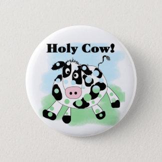 Badge Rond 5 Cm Vache sainte