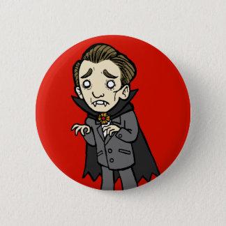 Badge Rond 5 Cm Vampire triste