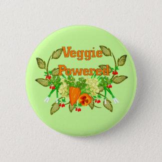 Badge Rond 5 Cm Végétarien actionné