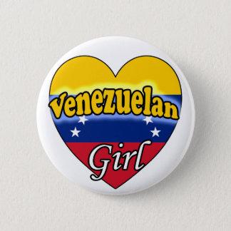 Badge Rond 5 Cm Venezuelan Girl