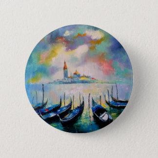 Badge Rond 5 Cm Venise avant pluie