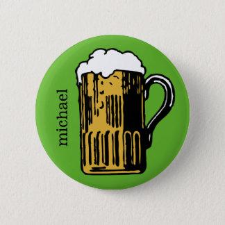Badge Rond 5 Cm Verre de bouton fait sur commande de nom et de