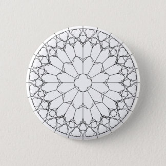 Badge Rond 5 Cm Verre souillé de roses