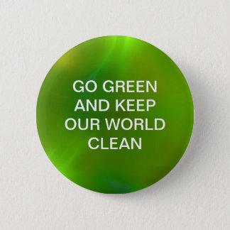 Badge Rond 5 Cm Vert de chaux miroitant brillant