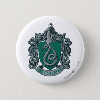 Badge Rond 5 Cm Vert de crête de Harry Potter   Slytherin