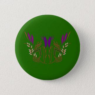 Badge Rond 5 Cm VERT des mandalas ECO de conception
