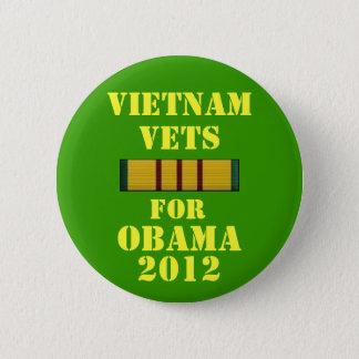 Badge Rond 5 Cm Vétérinaires du Vietnam pour Obama 2012