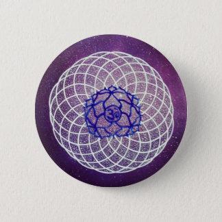 Badge Rond 5 Cm vibration de chakra de couronne