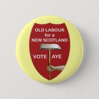 Badge Rond 5 Cm Vieil insigne écossais de travail de bouton de