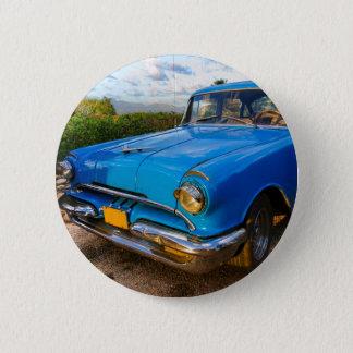 Badge Rond 5 Cm Vieille voiture classique américaine au Trinidad,