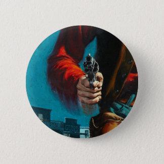 Badge Rond 5 Cm Vieux cowboy occidental vintage de manieur de