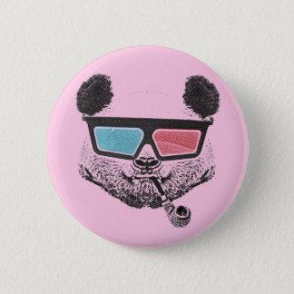 Badge Rond 5 Cm Vintage panda 3-D glasses