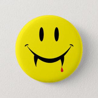Badge Rond 5 Cm Visage de smiley de vampire