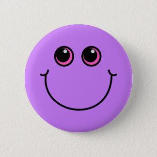 Badge Rond 5 Cm Visage souriant pourpre