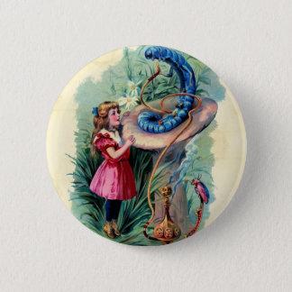 Badge Rond 5 Cm Vivant vintage dans le bouton du pays des