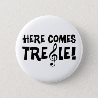Badge Rond 5 Cm Voici venir le triple !