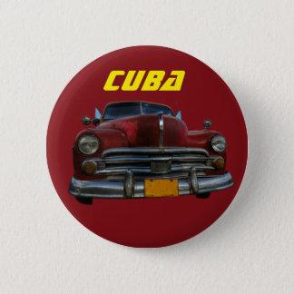 Badge Rond 5 Cm Voiture américaine classique dans Vinales, Cuba