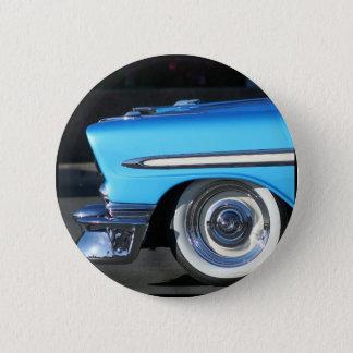Badge Rond 5 Cm Voiture classique bleue