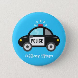 Badge Rond 5 Cm Voiture de police mignonne avec la sirène pour des