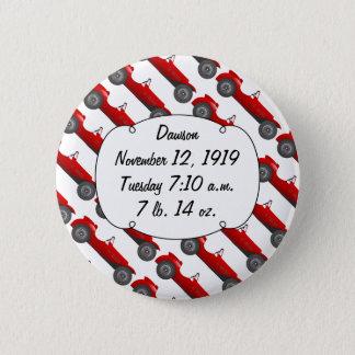 Badge Rond 5 Cm Voiture rouge douce de cadeaux classiques de