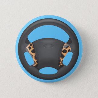 Badge Rond 5 Cm Volant d'impression de guépard