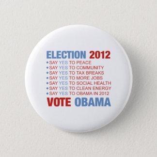 Badge Rond 5 Cm Vote oui pour Obama