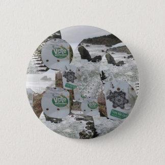 Badge Rond 5 Cm vote pour la plage California.jpg d'environnement