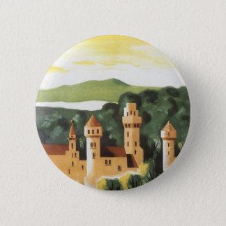 Badge Rond 5 Cm Voyage vintage, château allemand, Bavière