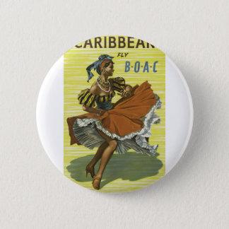Badge Rond 5 Cm Voyage vintage la Caraïbe