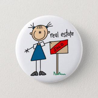 Badge Rond 5 Cm Vrai agent immobilier
